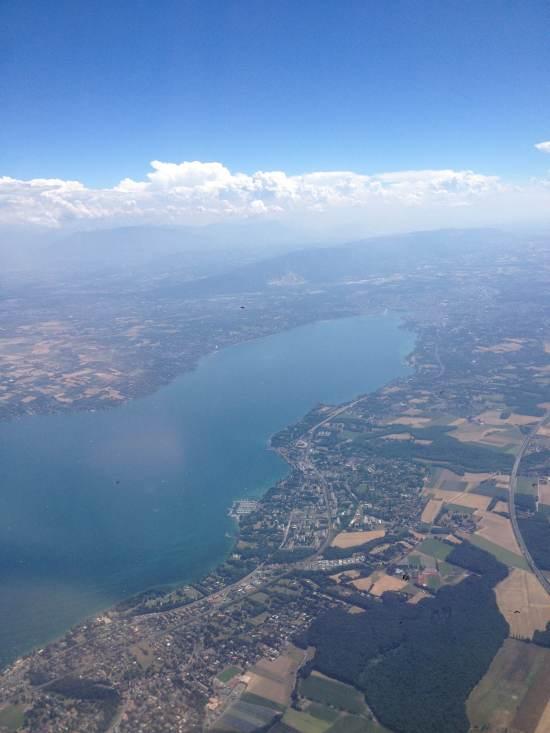 Lac Léman depuis l'avion