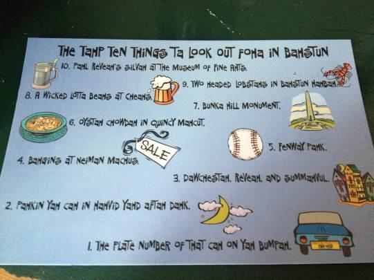 Quelques exemples de l'accent bostonien