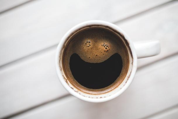 Apparemment, même le café est content!